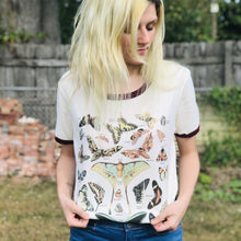 Load image into Gallery viewer, Butterfly Lover Ringer Tee