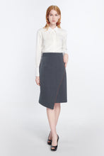 Load image into Gallery viewer, Mystique Wrap Effect Pencil Skirt