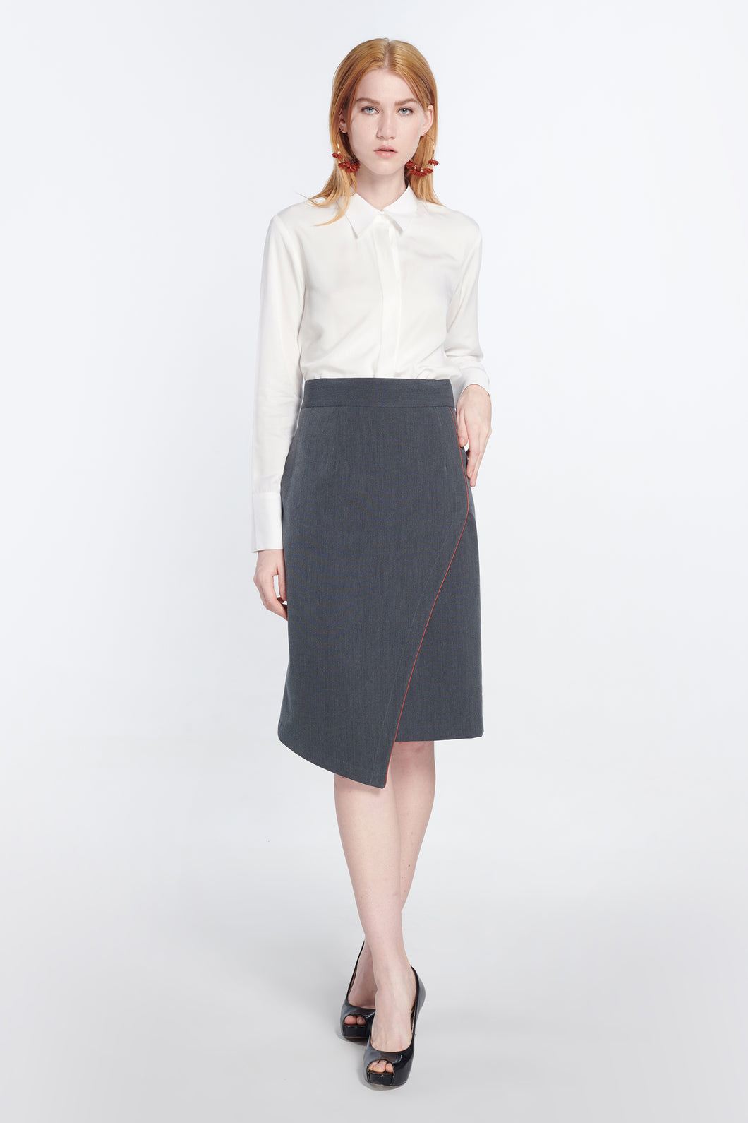 Mystique Wrap Effect Pencil Skirt