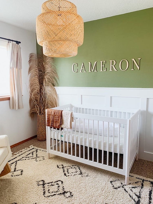Custom Nursery Name Cut Out Sign Above Crib, Baby Name 3d Raised letter