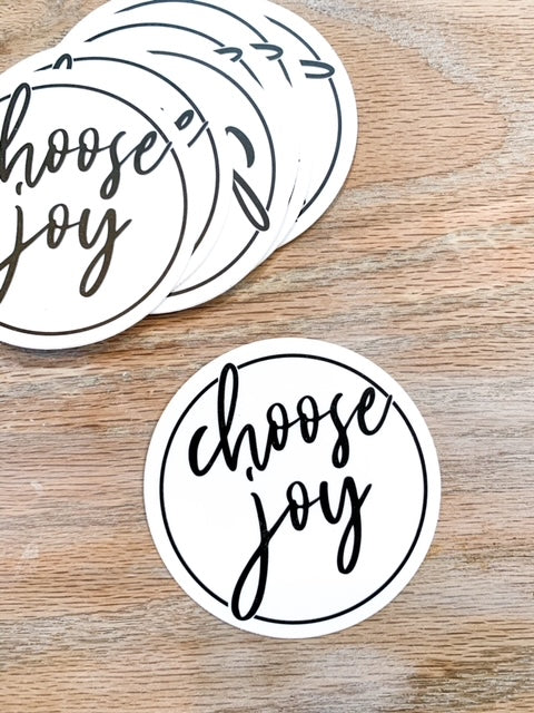 Choose Joy Circle Laptop Waterbottle Sticker
