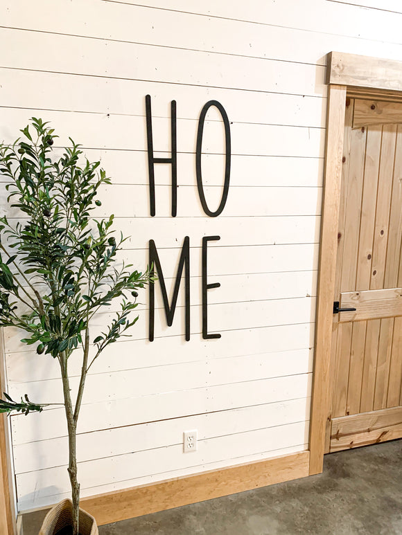 HOME modern farmhouse Cut Out Sign 3d Raised letter