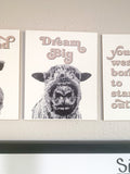 5 Farm Animal Motivational Digital Print Sign