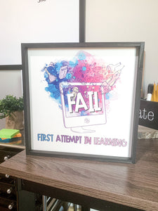 FAIL- first attempt in learning- science sign