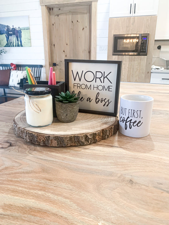 Work From Home Like A Boss Tray Bundle Set WITH MUG