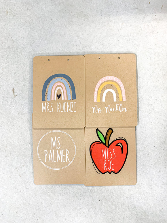 Personalized Teacher Clipboards