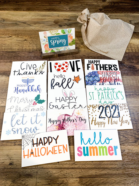 Seasonal Shelf Sitter bundle; Fall Signs; Removable Shelf Sitter; Holiday Sign; Christmas; Halloween