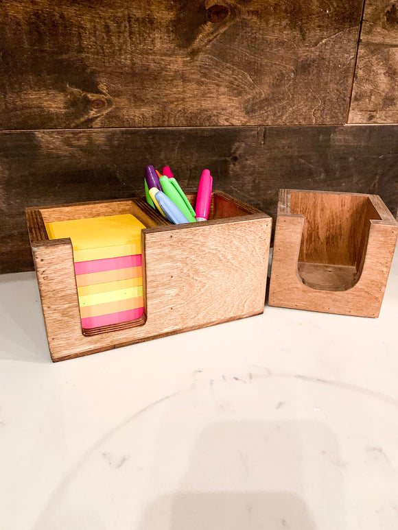Sticky Note Holder & Pen And Pencil Holder