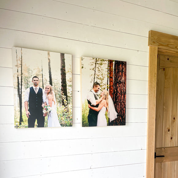 Your Personalized Custom Photos Printed on Wooden box, Family Engagement photo