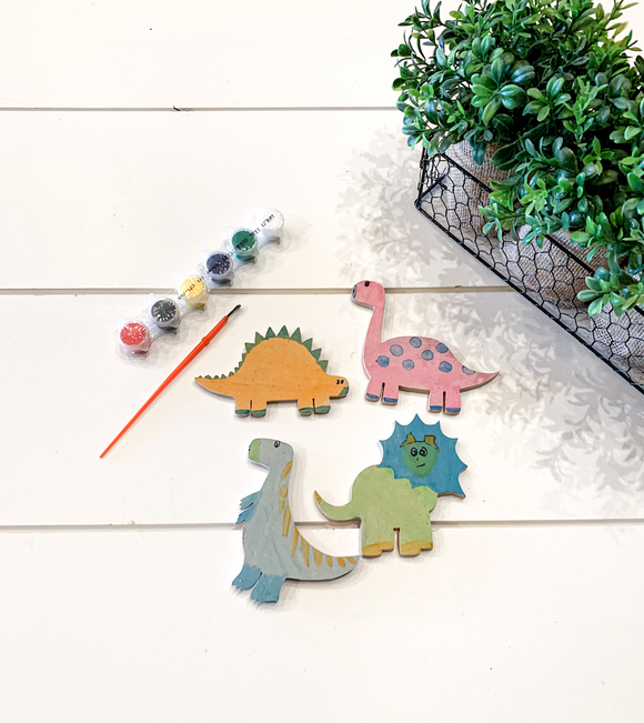 DIY Paint Kit Dinosaur Magnet Kid's Kit Arts and Craft