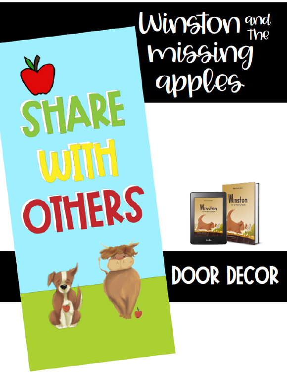 Winston and the Missing Apples Book Classroom Door Decor poster set