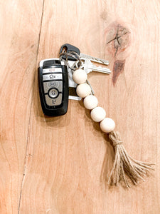 Farmhouse Bead Tassel Keychain