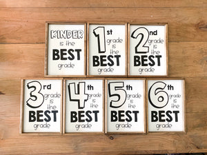 Grade Level Signs