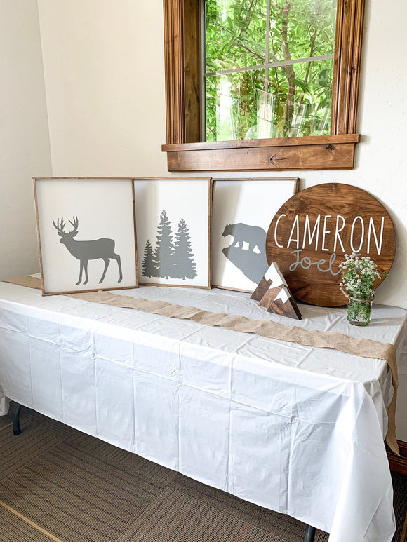 Rustic Nursery Wood Sign Set