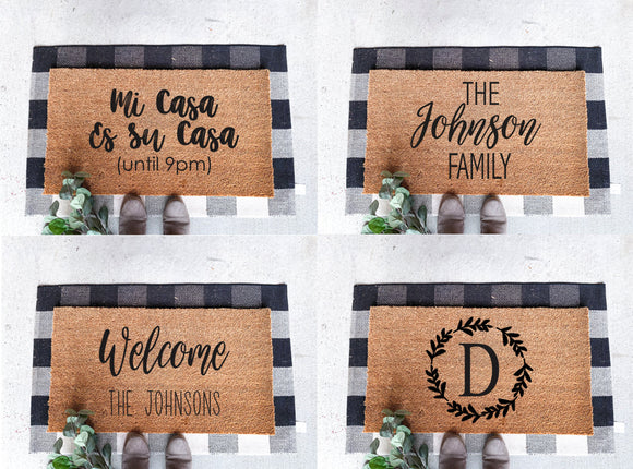 Door Mats; Welcome Mats; Front Door Porch Mat; Funny Mat Signs; Welcome Mats
