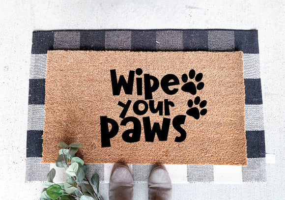 Wipe Your Paws Door Mats; Welcome Mats; Front Door Porch Mat; Funny Mat Signs; Welcome Mats