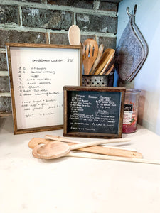 Your handwritten Recipe/Letter transferred to wood Sign