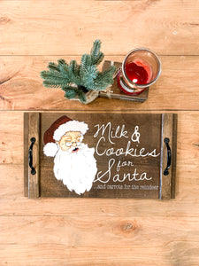 Milk & Cookies for Santa and Carrots for The Reindeer Serving Tray