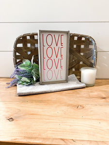 Ombre Valentines Day Color Love Sign