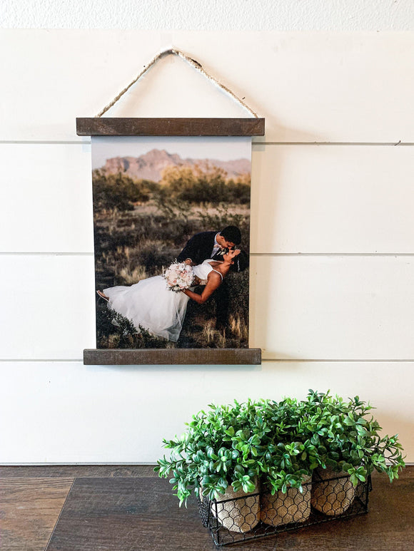 Your Photo Printed on Wood Scroll Sign; Photograph