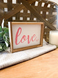 Pink Love Cursive Valentines Day Sign