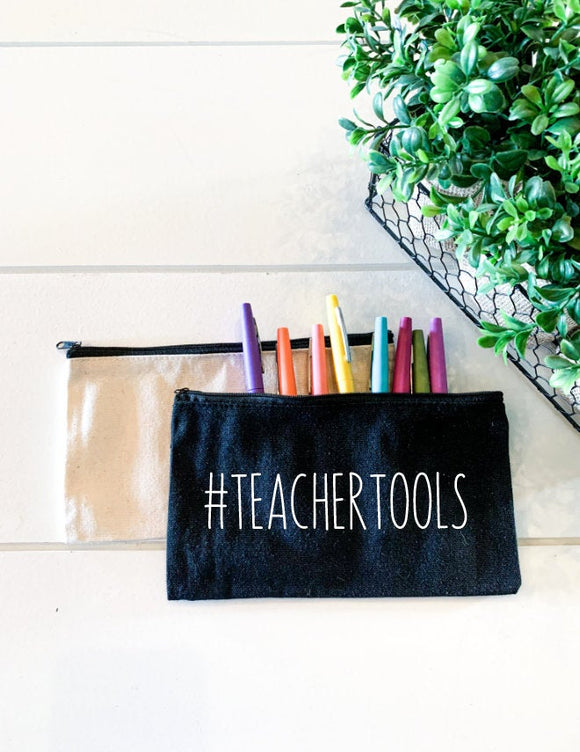 # teacher tools; Personalized Teacher Zipper Pouch; Pencil Bag; Makeup Bag; Essential Oil