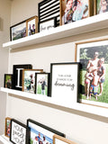 Picture Collage Floating Ledge Shelves; Sign Bundle; Home Sign; Family; Bookshelf; Book shelfWhite Shelf