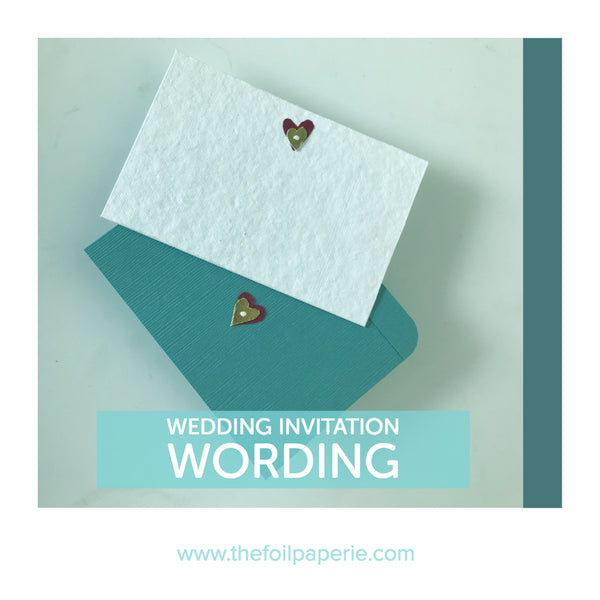 Writing for Wedding Invitations