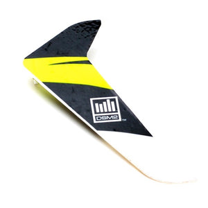 Blade BLH3120 Yellow Vertical Tail Fin / Rudder with Decal: Blade 120 SR