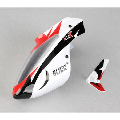 Blade BLH3218 Complete White Body/Canopy with Vertical Fin: mSR X
