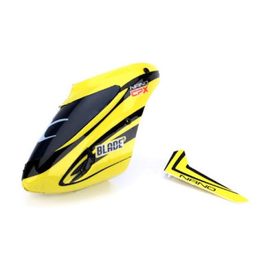 Blade BLH3318 Complete Yellow Canopy w/Vertical Fin: Nano CP X / nCP X