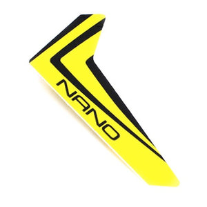 Blade BLH3320 Yellow Vertical Fin with Decal: Nano CP X / nCP X