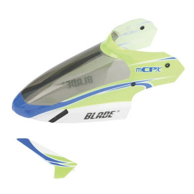 Blade BLH3519 Complete Green Canopy/Body +Tail Fin: mCP X & mCPX2