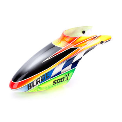 Blade BLH4081B Orange/Green Fiberglass Canopy for the: Blade 500