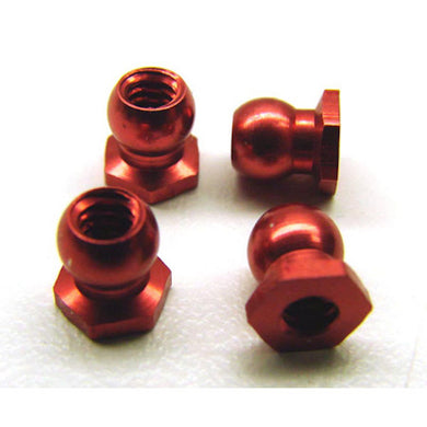 Calandra Racing CLN13615 Red Low Roll Center Balls (4)