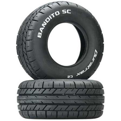 DuraTrax DTXC3797 Bandito SC Short Course On-Road Tires (2) C2: 1/10