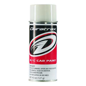 DuraTrax PC251 Polycarb RC Spray Paint Bright White 4.5 oz