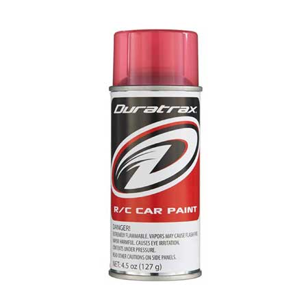 DuraTrax PC271 Polycarb RC Spray Paint Candy Red 4.5 oz