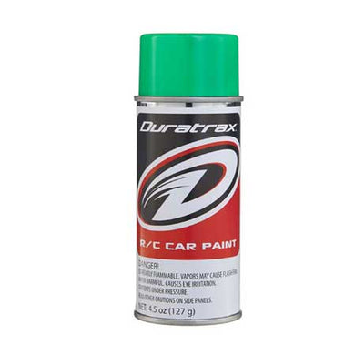 DuraTrax PC281 Polycarb RC Spray Paint Fluorescent Green 4.5 oz