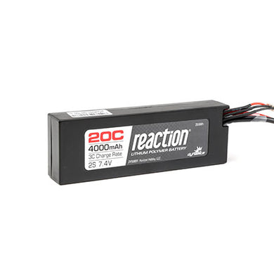 Dynamite DYN9001EC Reaction LiPo Battery 7.4V 4000mAh 2S 20C Hardcase: EC3 Plug