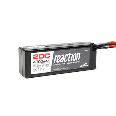 Dynamite DYN9002EC Reaction LiPo Battery 11.1V 4000mAh 3S 20C Hardcase: EC3 Plug