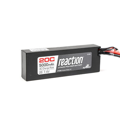 Dynamite DYN9004EC Reaction LiPo Battery 7.4V 5000mAh 2S 20C Hardcase: EC3 Plug