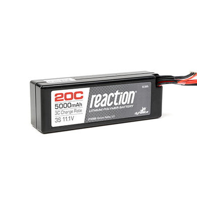 Dynamite DYN9006EC Reaction LiPo Battery 11.1V 5000mAh 3S 20C Hard Case: EC3 Plug
