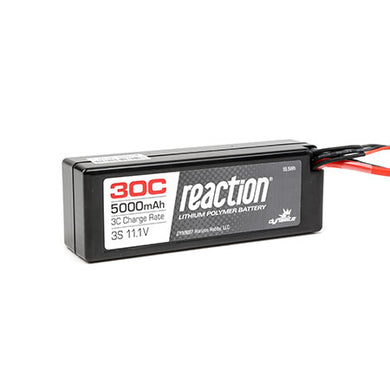 Dynamite DYN9007EC Reaction LiPo Battery 11.1V 5000mAh 3S 30C Hard Case: EC3 Plug