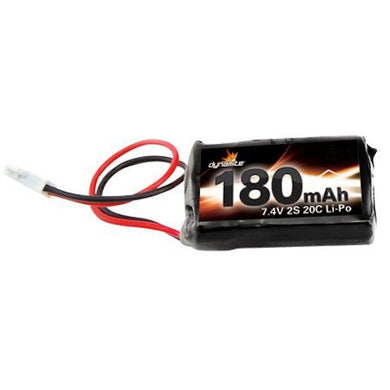 Dynamite DYNB0005 LiPo Battery 7.4v 2-Cell 180mAh for Losi LOSB0863: 1/36 Micro-T & Desert