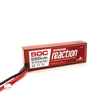 Dynamite DYNB3811EC Reaction LiPo Battery HD 11.1V 5000mAh 3S 50C Hardcase: EC5 Plug