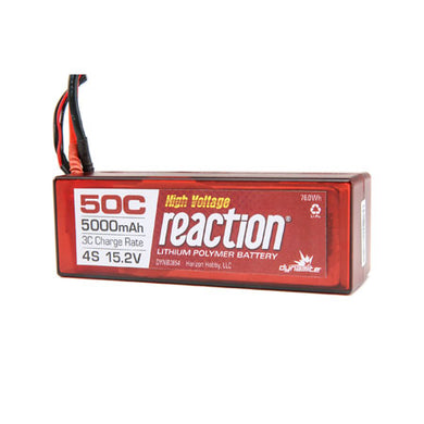 Dynamite DYNB3854EC Reaction LiPo Battery 15.2V HV 5000mAh 4S 50C Hardcase: EC5 Plug