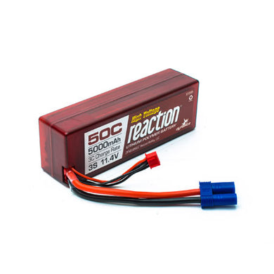 Dynamite DYNB3856EC Reaction LiPo Battery HV 11.4V 5000mAh 3S 50C Hardcase: EC5 Plug