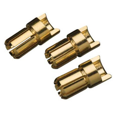 Great Planes GPMM3116 Gold Plate Bullet Connector Male 6mm (3)