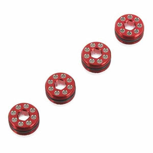 Hot Racing AON21N02 Aluminum Delrin Cap Hub Nut Red Arrma 1/8